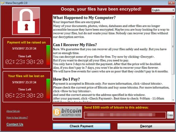 Prevenzione da WannaCry (WCRY) ransomware
